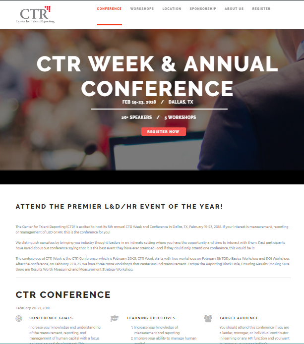 2018 CTR Week & Annual Conference Microsite